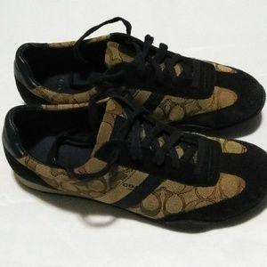 Coach Womens Sneakers Size 9.5 Blue Low Top Lace U